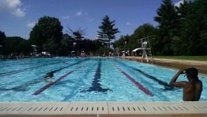 Swimming laps at Kelly Pool in Fairmount Park